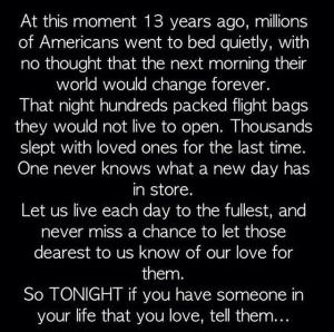 9.11 tell someone you love them